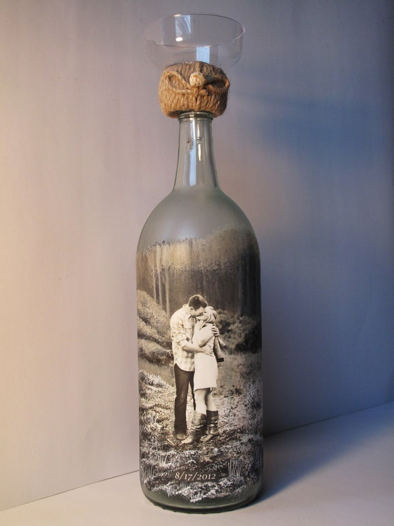 Personalized sand ceremony bottle custom order hand painted for Glass bottle gift ideas