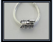 Train - Locomotive Charm - Fits European Style Bracelets