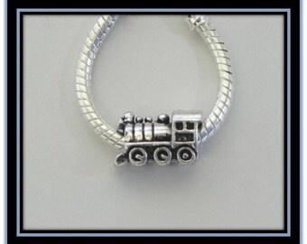 Train - Locomotive Charm - Fits European Style Bracelets
