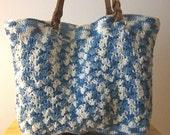 Large Crochet Shopping Tote /  Beach Bag