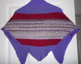 Knitted Wrap in Mix of Lilac