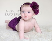 Diaper Covers, Fall Mulbery Purple Grape Orchid Ruffle, Child Baby Bloomer Panty, Newborn, Photography Prop