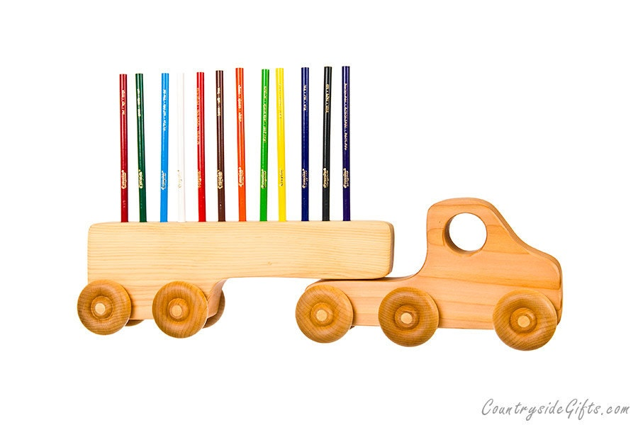 pencil holder wooden truck colored pencil holder handcrafted natural u0026 organic wooden pencil holder