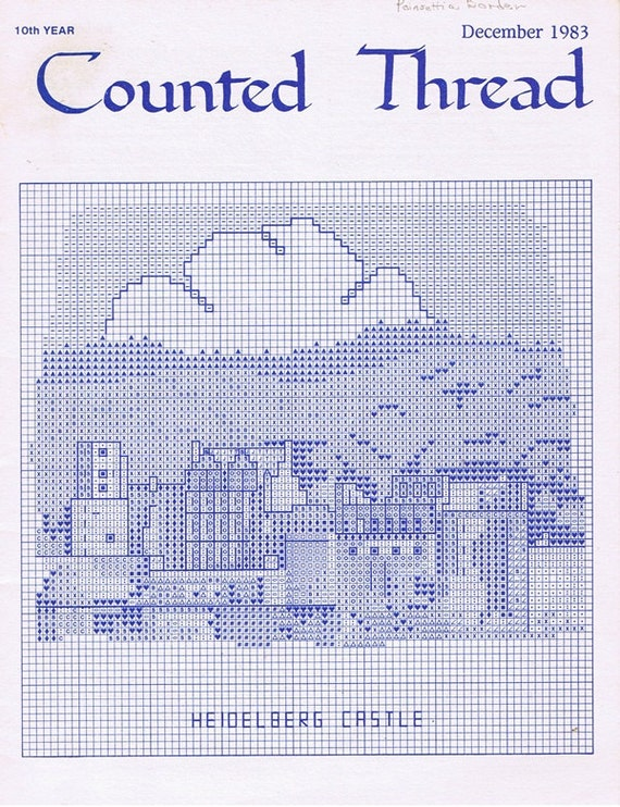 Counted Thread Magazine December 1983 Embroidery Craft Patterns