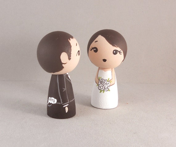 Cute Funny Wedding Cake Toppers By Licoricewits On Etsy
