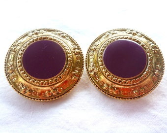 Vintage, Purple Circles ClipOn : C28
