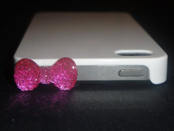 Bling Bow Earphone Jack/ Plug - iPhone/ iPad/ Android