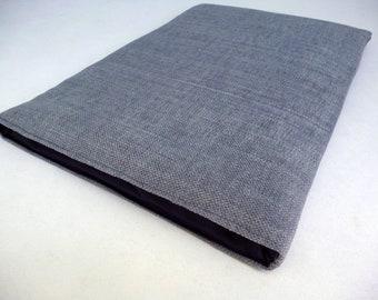 BertieJoseph Apple MacBook Pro Retina 13 inch or 15 inch Silver Grey Linen Sleeve