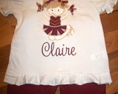 Cute Cheerleader Team Shirt School Spirit