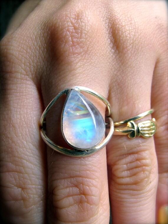 The Eye of Horus Mystical Moonstone Ring