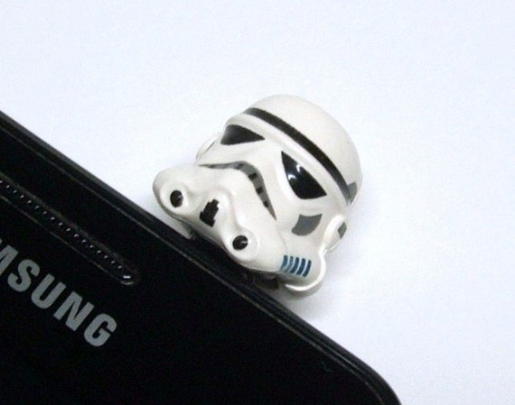 Storm Trooper Cell Phone Charm, made from Star Wars LEGO (r) Head