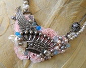 Queen Of Angels Mixed Media Necklace