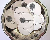 Dandelion Tags Round Paper Gift Tags Set of 10