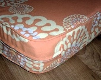 """Custom Seat Cushion,23"""" x 45"""" x 3"""". Custom,use your own fabric,includes foam, batting, piping and zipper. Made to Order."""