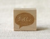 Rubber Stamp - Hello Speech Bubble - witandwhistle