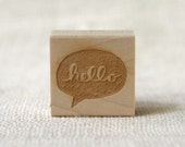 Rubber Stamp - Hello Speech Bubble - witandwhistle