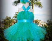 Peacock Inspired Tutu Dress - Made in ANY COLORS
