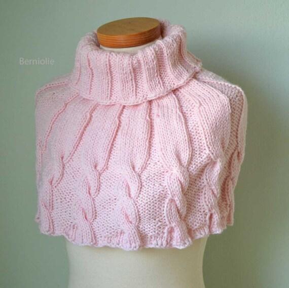 DHARMA, Knitting capelet pattern, PDF