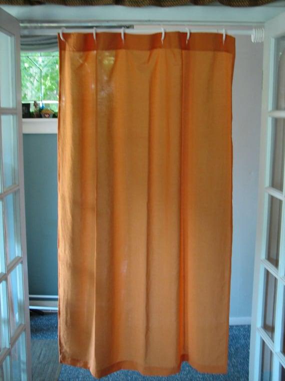 Shower Stall Curtain Pumpkin