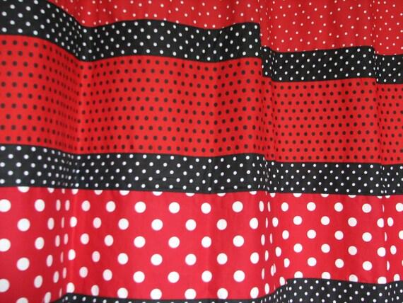 red and black polka dot shower curtain sale by positivelybiased. Black Bedroom Furniture Sets. Home Design Ideas