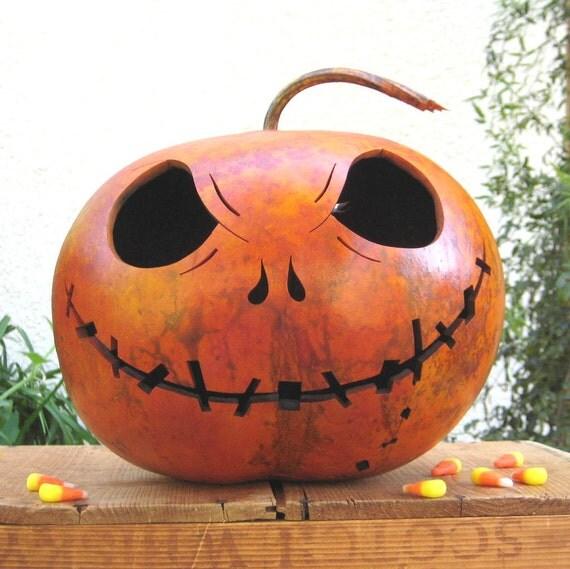Natural Halloween Decorations: Halloween Gourd Jack O Lantern Natural Fall Harvest Jack