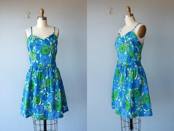 60s dress  / 1960s dress / floral party dress / sundress / summer dress -  size medium