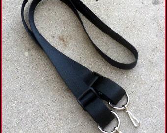 Black Shoulder BAG purse Briefcase Carry Strap HEAVY DUTY Metal Clip  Nerf Gun messenger hip bag lanyard