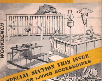 Workbench 1959 July August - Vintage Magazine Outdoor Living Edition
