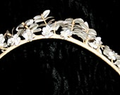 Victorian Bridal Headpiece Art Nouveau Tiara Hair Ornament Flowers Leaves Vintage Antique Bridal Headdress Gründerzeit