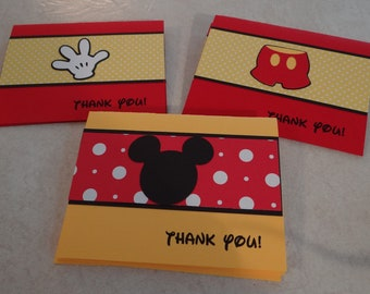 Mickey Mouse Thank You Cards - Birthday Supplies, Party Supplies