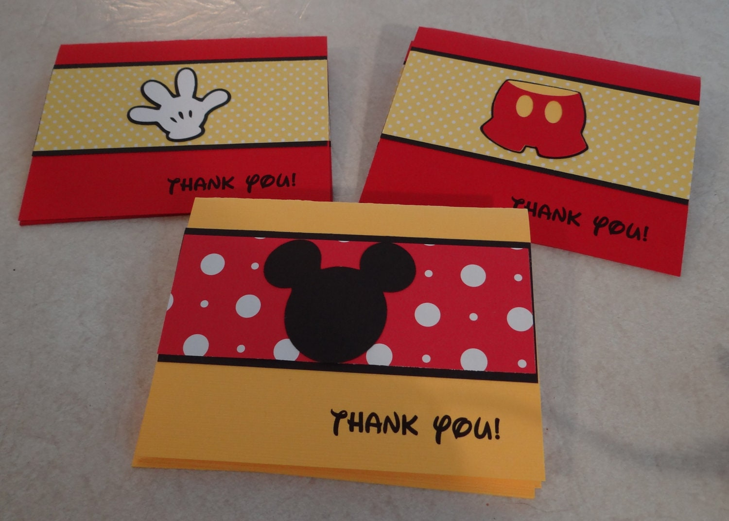 mickey mouse thank you cards birthday supplies party