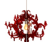 Claire de Lune Chandelier Deluxe (7 arms)  Red