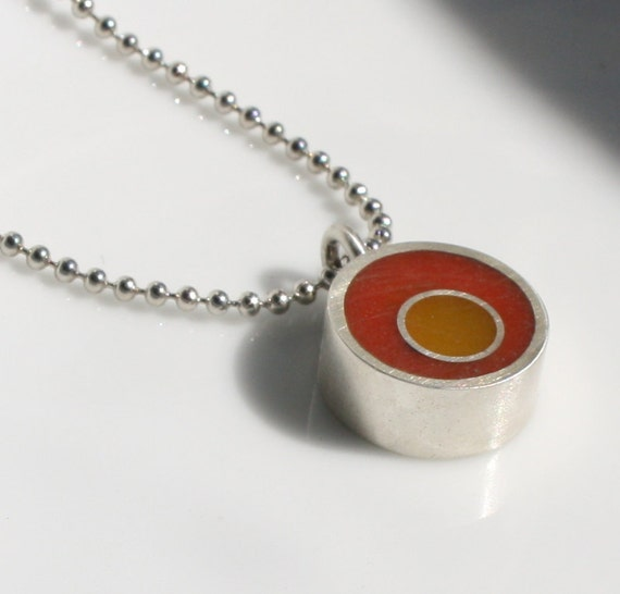 Orange and Saffron Resin Color Pop Necklace