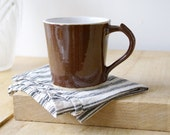 Single spicy chai latte mug - stoneware pottery mugs glazed in milk chocolate
