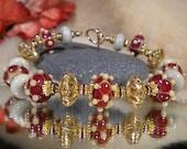 Lampwork bracelet and earring set SEDUCTION