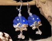 Lampwork Earrings She Sells Seashells