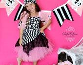 Custom Boutique Pink  Pirate tutu costume 6 halloween costume