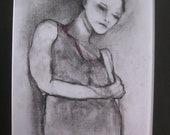 "original drawing ""Coy"" by Australian artist Deann Cumner"