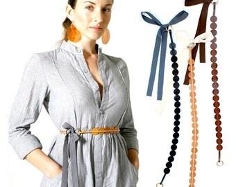 WAIST BELT , leather belt -  full grain leather belt -  waist belt, sash belt, Skinny Belt , gift for her