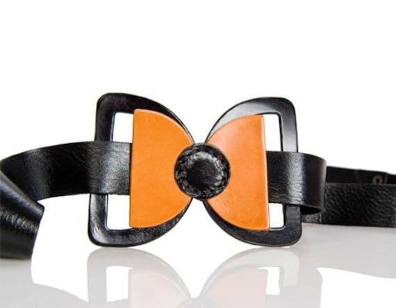 leather bow belt - black bow belt - dress bow belt - women belt - waist belt - hip belt - wide belt - fashion belt- BOGO SALE