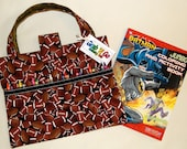 Football Coloring Book n Crayola Crayons Organizer, Art Supplies Pouch, Travel Art Tote,
