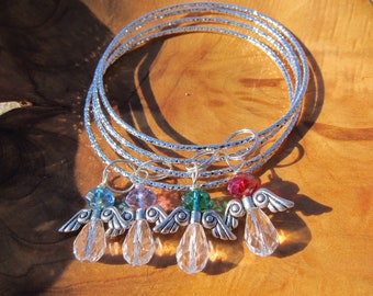 My Special ANGELS - Bracelets- Choose any Swarovski Crystals - Great Gift for Mom, Grandma, Godmother,  Daughter, Sister