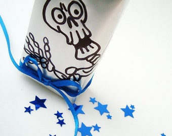 Mr. Bones Says Hi Halloween Soda Can Gift Box Recycled Eco Friendly  Repurposed Recycled Skeleton