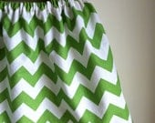 chevron skirt - apple green and white - for baby toddler girl - 2T ready to ship