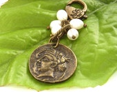 Coin purse charm bag charm freshwater pearls