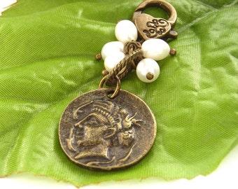 Coin purse charm bag charm freshwater pearls