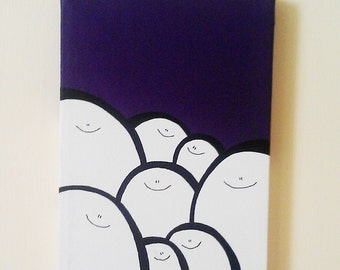 Acrylic Painting On Canvas - Original - Cheps - Purple Version