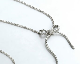 Forget me Knot Bow Necklace
