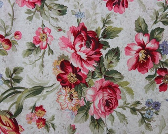 Linen Floral Vines  Penelope   LH11035LIN Lakehouse Dry Goods French Fabric