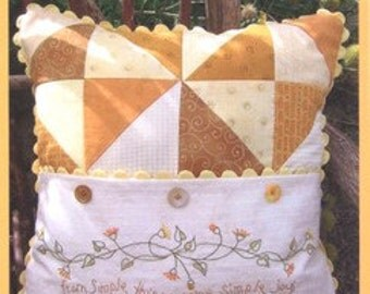 Crabapple Hill 218 Simple Joys of Autumn Hand Embroidery Pattern Pillow